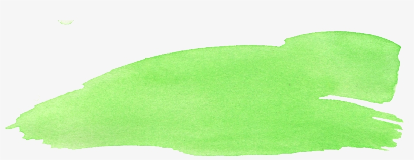 Free Download - Watercolor Brush Stroke Yellow Green Png, transparent png #160205