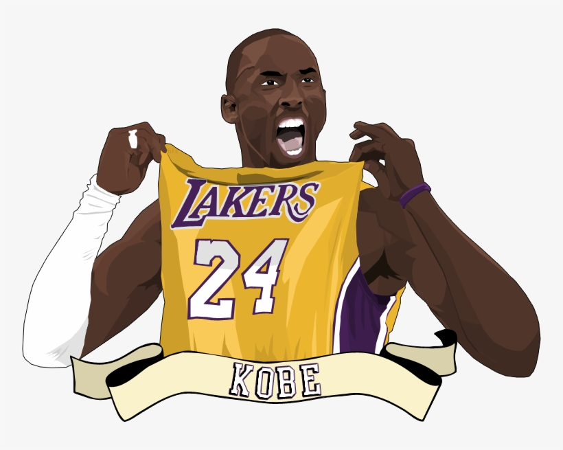 Vintage Kobe Bryant Lakers 24 Jersey Small, transparent png #160306