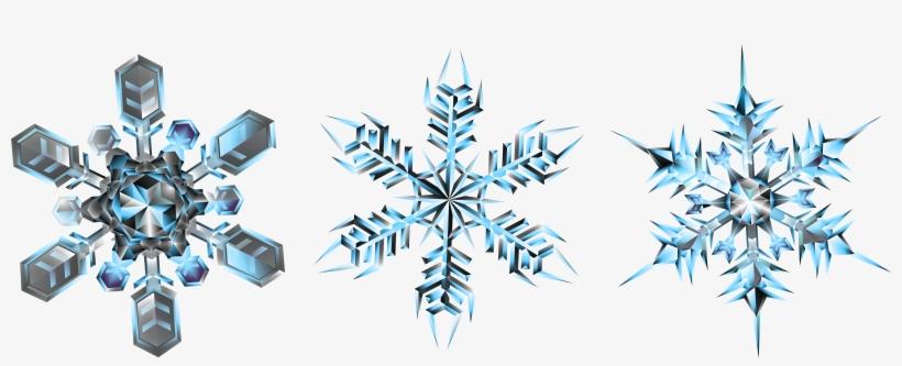 Clipart Snowflake Crystal - Snowflake, transparent png #161204