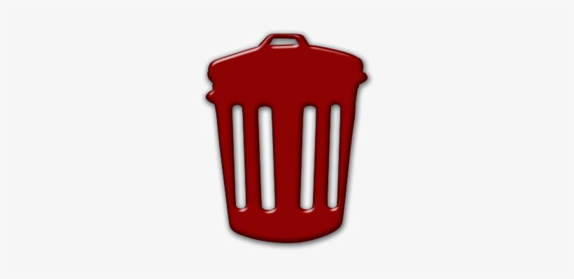 Free Icons Png - Red Trash Can Icon, transparent png #161807