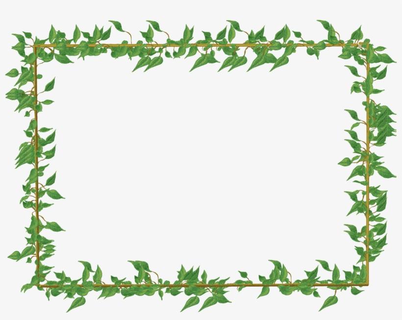 Transparent Green Flowers Frame | Kartlar, Çiçek |Green Flower Border