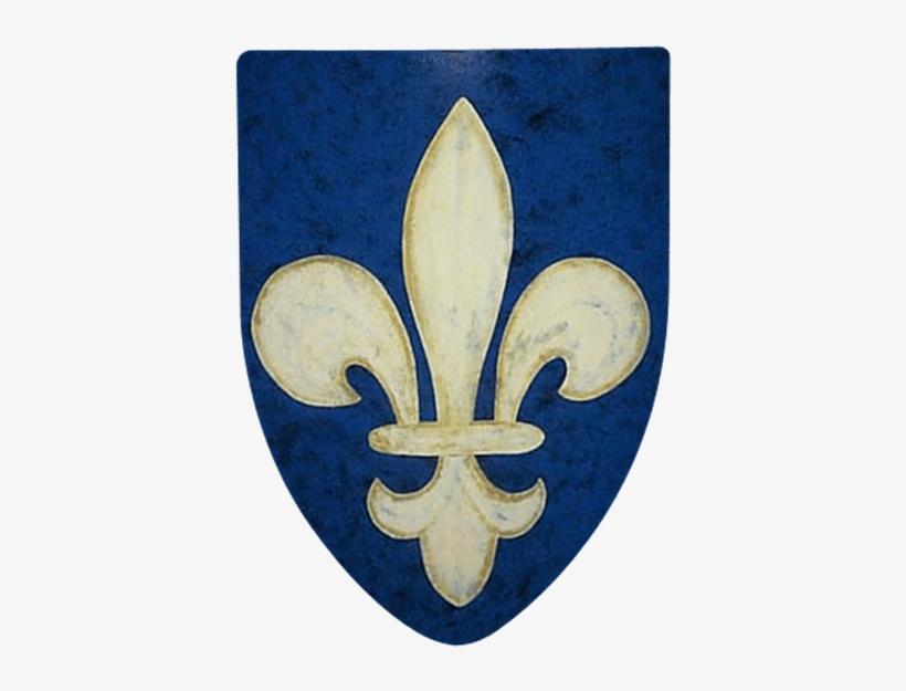 Fleur De Lis Steel Battle Shield - Fleur De Lis Shield, transparent png #162313