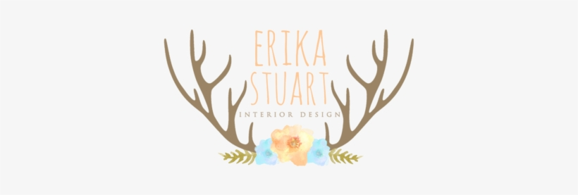 Premade Logo Watercolor Antlers And Floral - Deer Christmas Decoration Removable Wall Stickers, transparent png #165418