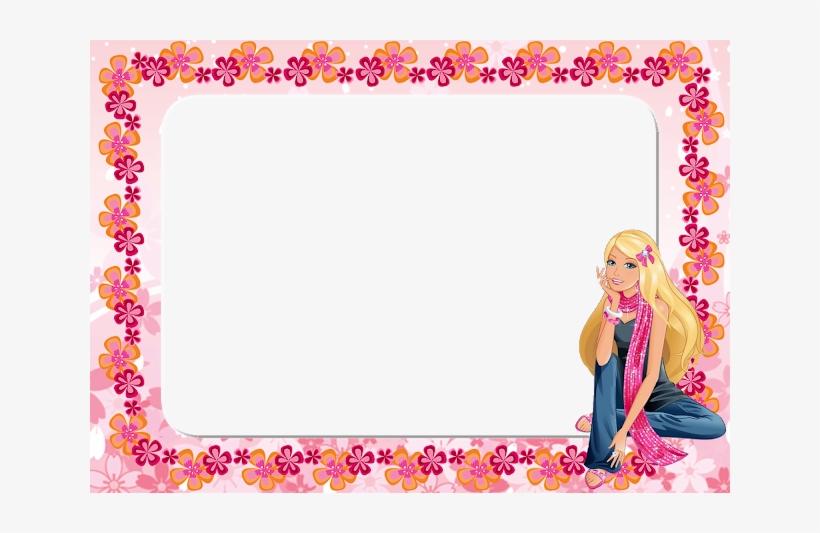 Barbie Clipart Flower - Barbie Borders And Frames, transparent png #165657
