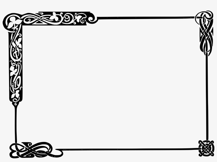 28 Collection Of Frame Clipart Black And White Png - Celtic Knot Border Png, transparent png #165701