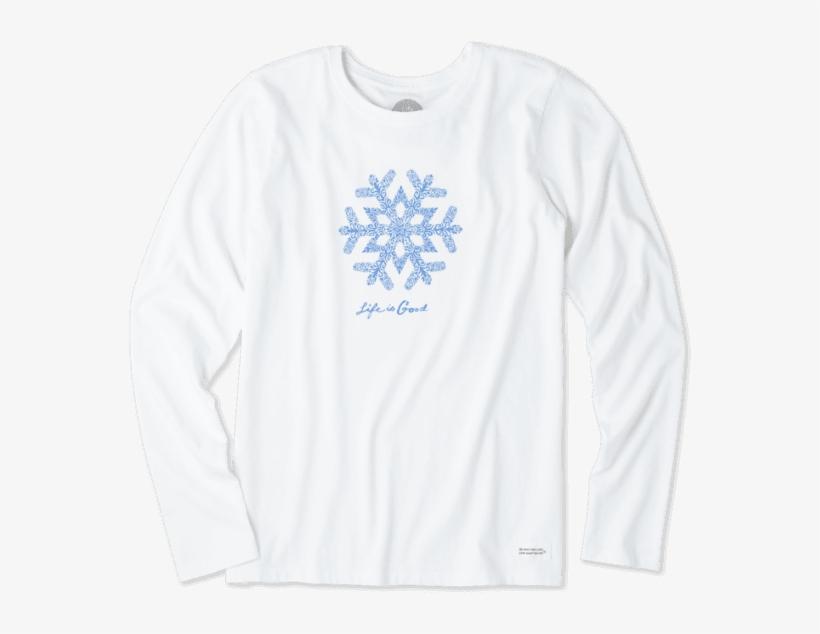 Women's Primal Snowflake Long Sleeve Crusher - Imagine Dragons Triangle Logo White Long Sleeve T Shirt, transparent png #166023