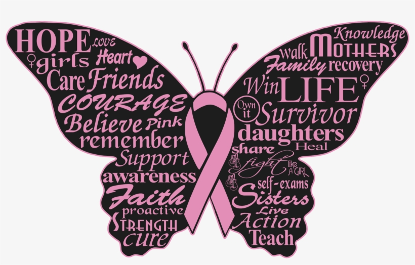 6b5e2cc19 Butterfly Svg Cancer Ribbon - Breast Cancer Logo Butterfly - Free ...