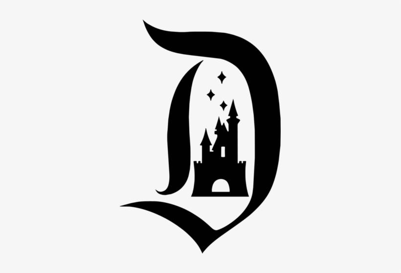 Disneyland Logo Vinyl Decal - Disney D With Castle - Free