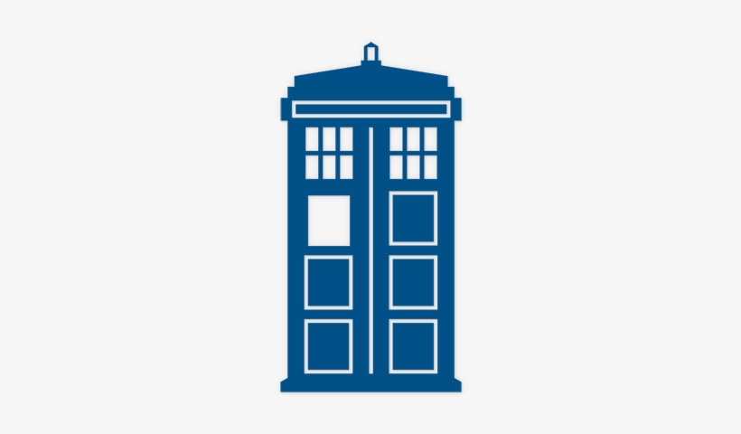 Tardis Front 200 Listing - Doctor Who Tardis Black And White, transparent png #166496