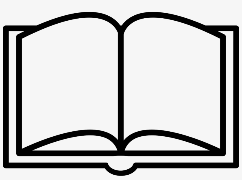 Book Opened Outline From Top View Svg Png Icon Free - Book Line Icon Png, transparent png #166802