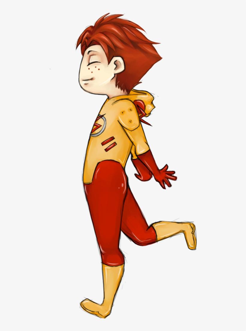 Kid Flash Png Pic - Kid Flash, transparent png #167542