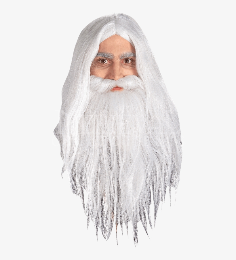 Childs Lotr Gandalf Wig And Beard Set - Children's Lord Of The Rings Gandalf Beard, transparent png #167758
