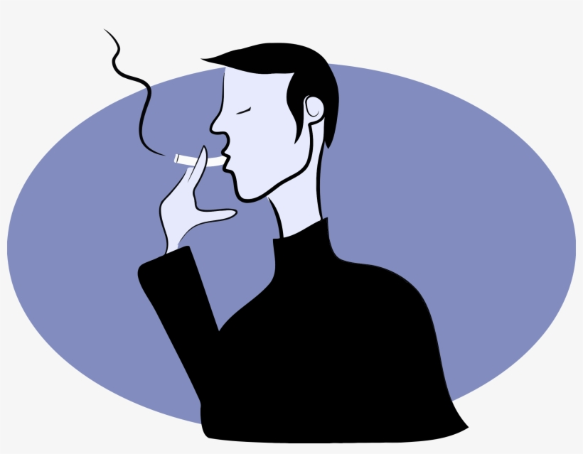 Medium Image - Man Smoking Clipart Png, transparent png #167996