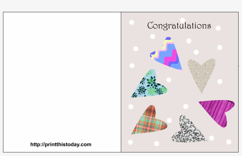 picture about Free Printable Wedding Cards named Absolutely free Printable Marriage Congratulations Playing cards - Templates Of