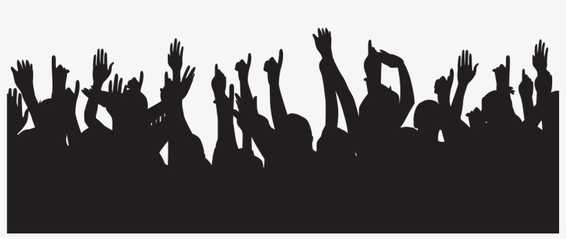 Clipart Royalty Free Download Party People Hands Up - Party People Silhouette Png, transparent png #168769
