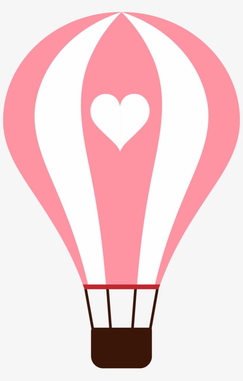 Hot Air Balloon Cartoon Clip Art - Hot Air Balloon Heart Clipart, transparent png #169063