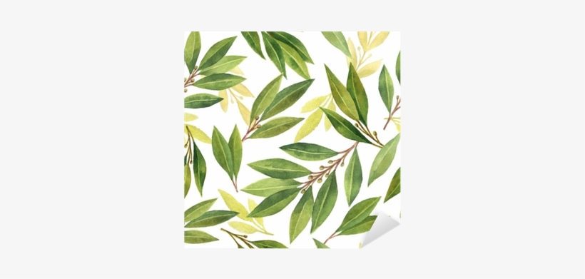 Watercolor Bay Leaf Seamless Pattern Of Flowers And - Flower Png Tumblr Aquarela, transparent png #169425