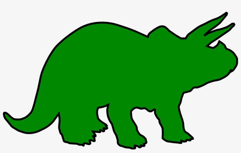 Dinosaur Triceratops Dino - Green Triceratops Clipart, transparent png #1601293