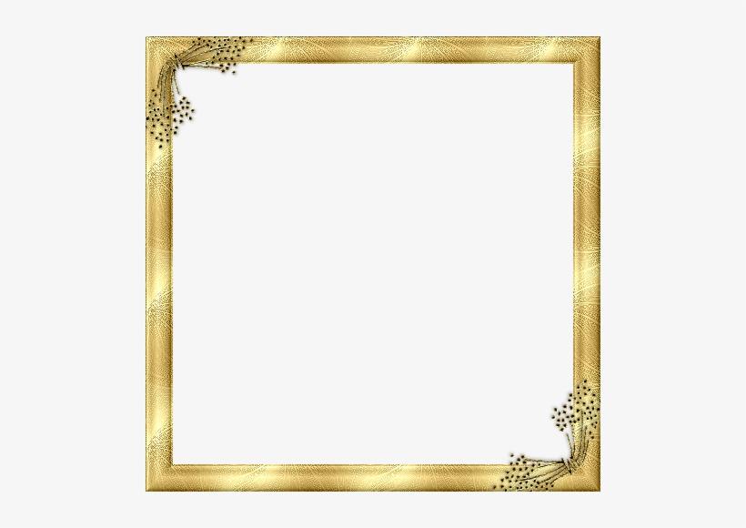 Gold Frame Border Design Transparent Borders - Fancy Gold Border Transparent, transparent png #1602253