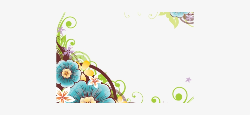 Flower Frame Border Vector » Path Decorations Pictures - Flower Corner Border Design Png, transparent png #1602894