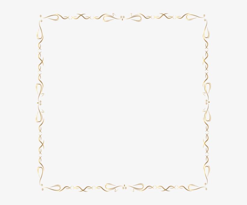 Golden Border Png Clip Art Image, transparent png #1602896