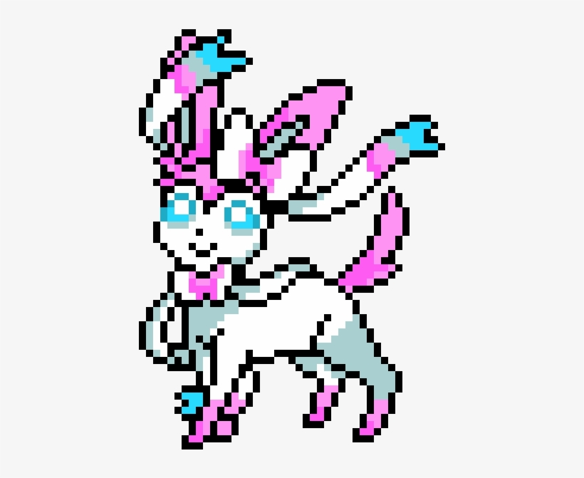 Sylveon Pixel Art Pokemon Nymphali Free Transparent Png