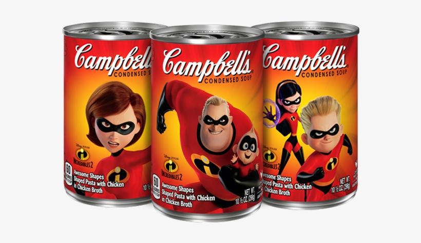 Campbells Condensed Chicken Noodle Disney•pixar Incredibles - Incredibles 2 Campbell's Soup, transparent png #1605388