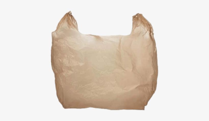 Plastic Bag Brown - Brown Plastic Grocery Bag, transparent png #1607719