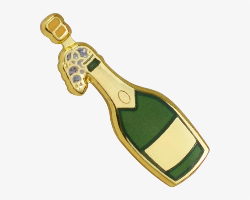 Champagne Emoji Pin - Emoji - Free Transparent PNG Download