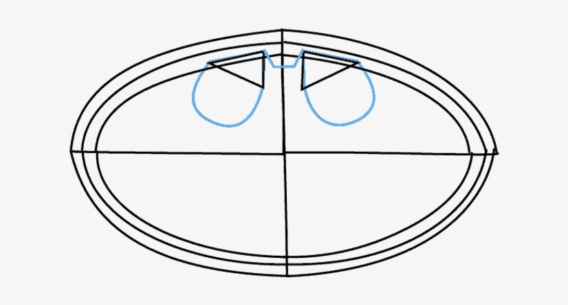 How To Draw Batman Logo Circle Free Transparent Png Download