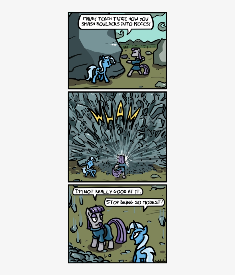 Foudubulbe, Blatant Lies, Boulder, Comic, Comic - My Little Pony: Friendship Is Magic, transparent png #1610352