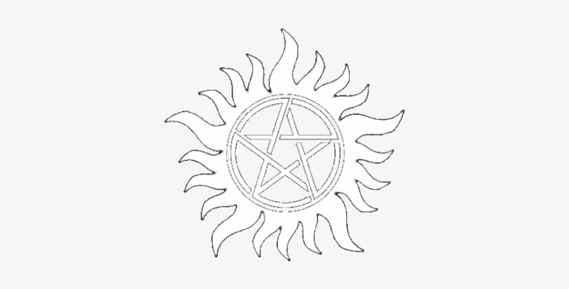 Supernatural Tattoo Transparent - Supernatural Red
