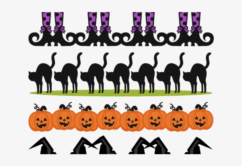 Halloween Clipart Clipart Border Free Halloween Clip Art Banner Free Transparent Png Download Pngkey