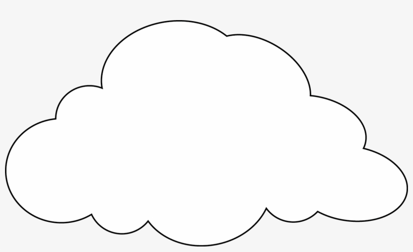 graphic about Printable Clouds named Drawing Cloud 48 - Printable Cloud Routine - Absolutely free