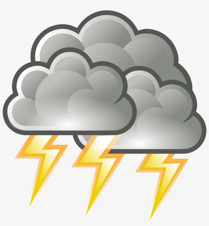Graphic Free Library Thunder Drawing Stormy Weather - Weather Storm, transparent png #1612892