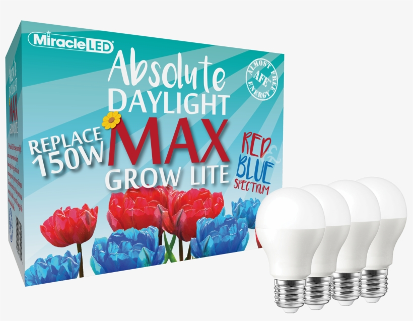 Miracle Led Commercial Hydroponic Max Red & Blue Led - 6w Led Bulb Lighting E27 220v 240v White Light, transparent png #1613829
