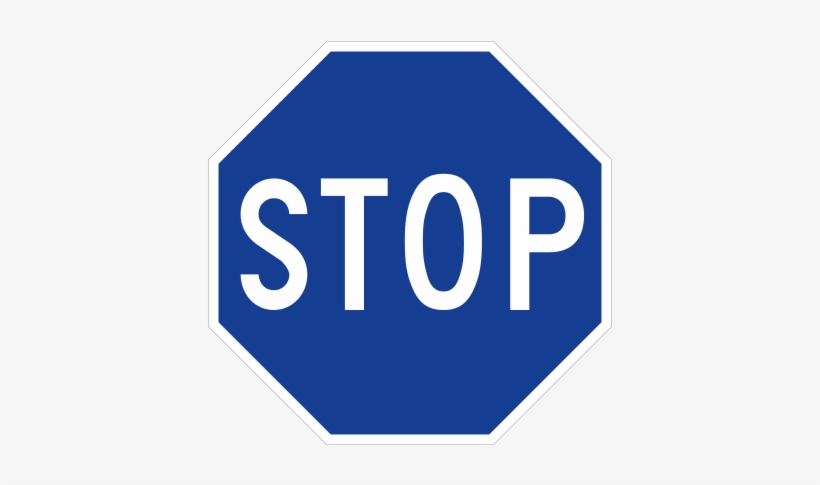 Blue Stop Signs Are Used On Private Property In Hawaii - Stop Sign, transparent png #1615301