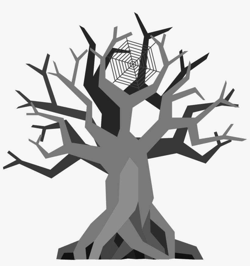 Creepy Tree - - Illustration, transparent png #1615355