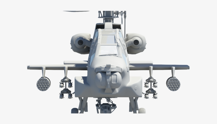 Apache Ah-64 Attack Helicopter 3d Model - Ah 64 Free 3d Model, transparent png #1615693