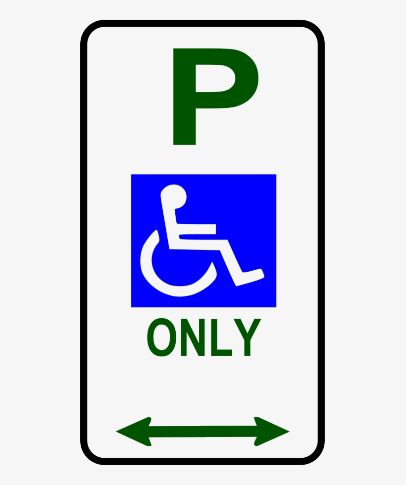 Disabled Parking Sign Clip Art - Disabled No Parking Signs, transparent png #1617215