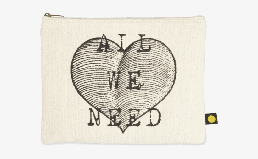 All We Need Heart Canvas Pouch - All We Need Heart Canvas Pouch By Life Is Good, transparent png #1618918