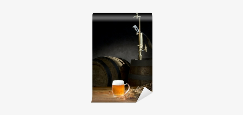 Beer Still Life On The Table With Old Beer Kegs Tap - Beer, transparent png #1620974