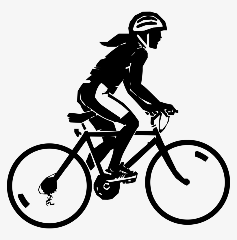 Steren Bike Rider Clip Art At Clker Black And White Bike Riding Free Transparent Png Download Pngkey