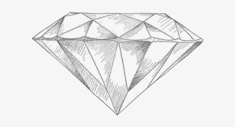 drawn diamonds detailed pencil drawing of a diamond free transparent png download pngkey drawn diamonds detailed pencil