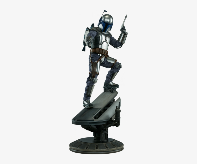 Star Wars Premium Format Jango Fett From Sideshow Collectibles - Star Wars - Jango Fett Premium Format 1:4 Scale Statue, transparent png #1623244