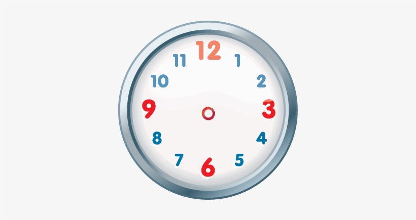 Clock Clipart Colourful - Clock Without Hands Clipart ...