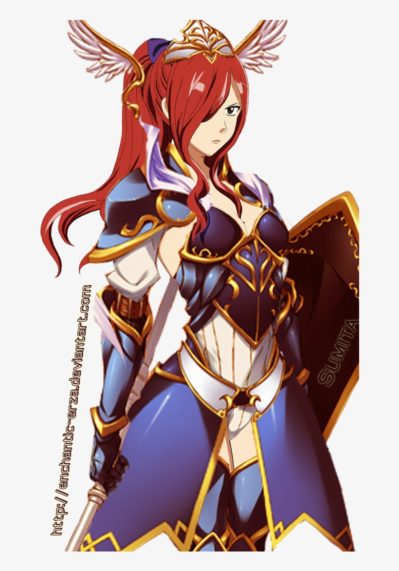 Erza Scarlet Sapphire Guardian Fairy Tail Erza New Armor Free