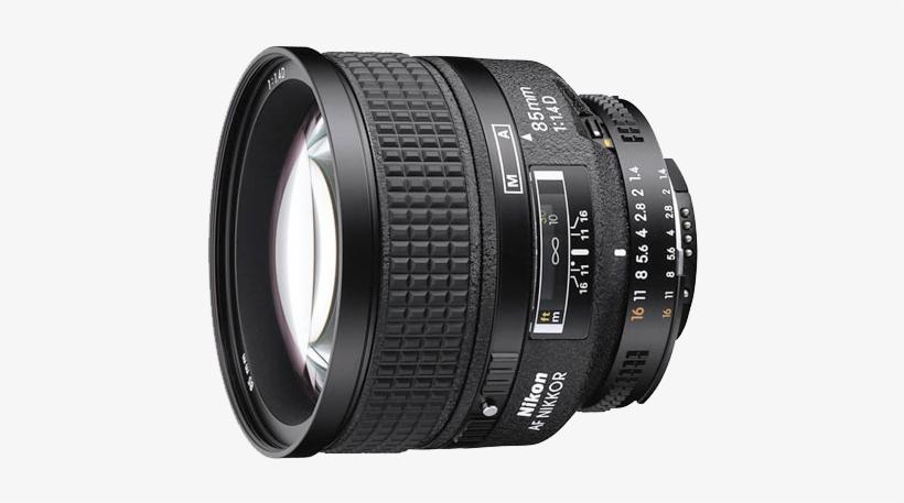 13 Nikon Prime Lenses That Will Fulfill Any Digital - Nikon Nikkor Telephoto Lens - 85 Mm - F/1.4 - Nikon, transparent png #1629043
