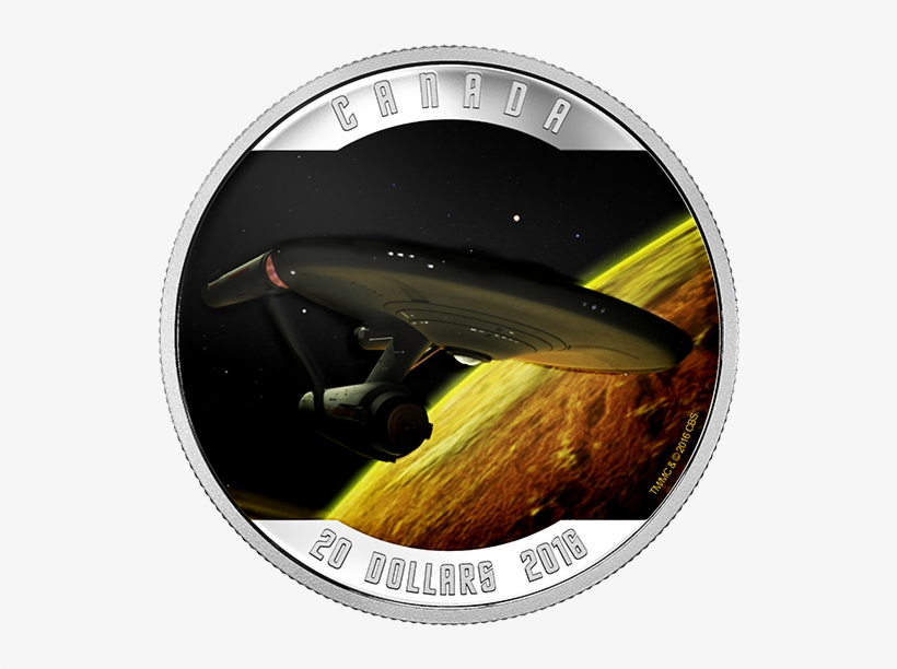 Pure Silver Coloured Coin Star Trektm - 1 Oz Pure Silver Coloured Coin Star Trektm Enterprise, transparent png #1629717