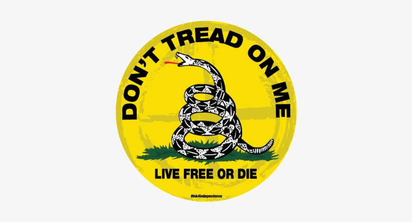 Round Don't Tread On Me - Dont Tread On Me Flag, transparent png #1629876